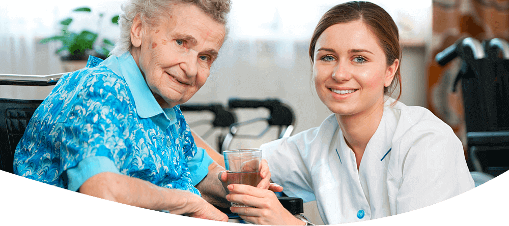 Caregiver and an Old Lady